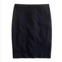J.Crew Womens Pencil Skirt In Super 120S Wool
