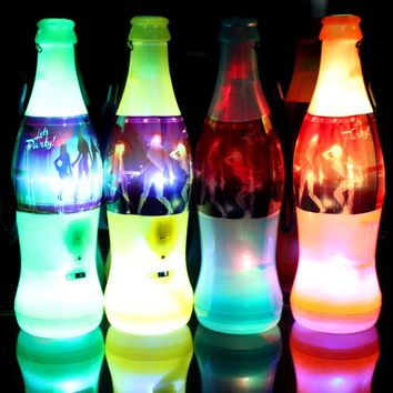 20pcs/lot Beer Bottle Design LED Whistle for kids adults World Cup Football Cheer Light up toys Party Funny decoration supplies