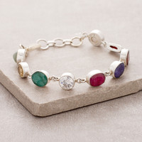 Nine Planet Gemstone Bracelet