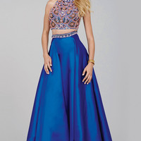 Royal Blue Two-Piece Prom Dress 32440