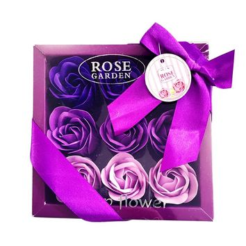 1 Pack Rose Soap Gift - Rose Petals Bathing Soap With Gift Box - 2018 New Arrival Valentine's Day Romantic Gift by Handmade
