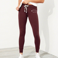 Gilly Hicks Logo High-Rise Fleece Leggings | Gilly Hicks Sleepwear & Lounge | HollisterCo.com