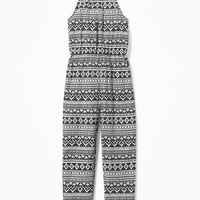 Suspended-Neck Printed Jumpsuit for Girls | Old Navy