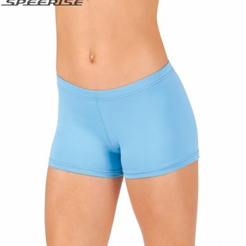 Gis Mid Waisted Lycra Spandex  Ballet  Workout Fitness Dance Shorts for  Children Shorts for Youth Children