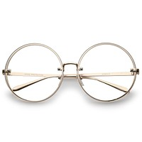 ba21d7281951 Modern Oversize Infinity Round Clear Lens Glasses A896
