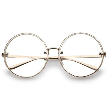 Modern Oversize Infinity Round Clear Lens Glasses A896