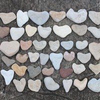 Sea Stone Heart Wedding Guest Book Beach Hearts