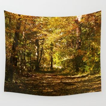 Woods Lake Trail Wall Tapestry by Theresa Campbell D'August Art
