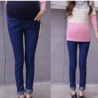 Maternity Jeans Pants For Pregnant Women Nursing Jeans Long Prop Belly Legging Skinny Maternity Clothes For Pregnancy Trousers