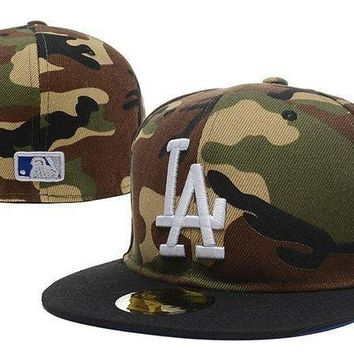Los Angeles Dodgers New Era Mlb Authentic Collection 59fifty Cap Camouflage White La