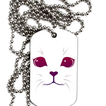 Heart Kitten Adult Dog Tag Chain Necklace by TooLoud
