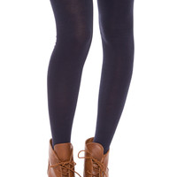 Hope Over The Knee Socks - Navy