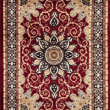 1053 Red Isfahan Oriental Area Rugs