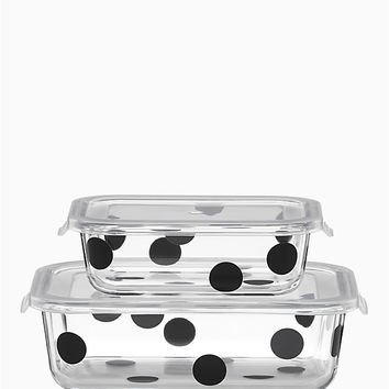 deco dot 4pc rectangular food storage containers | Kate Spade New York