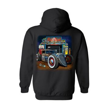 Men's/Unisex Zip-Up Hoodie Rat Rod Garage
