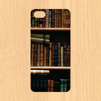 Vintage Bookcase Cell Phone Case iPhone 4/4S 5/5C 6/6+ Case and Samsung Galaxy S3/S4/S5