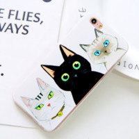 Unique Cute Meow Cat Iphone 7 7 plus & 6 6s plus & 5 5s Se Cover Case Best Gift 001