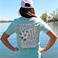 Lauren James tee with pictures and words.