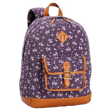 Northfield Purple Ditzy Floral Backpack