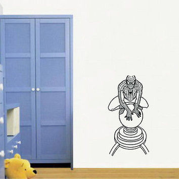 Wall Mural Vinyl Sticker Decal  man web costume DA1059