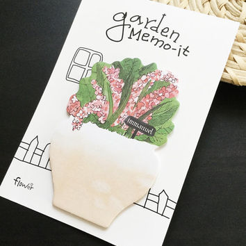Garden Flower Sticky Notes Memo Pad Labels | Bookmark Stationary Paper | School Office Supplies | Removable Adhesive Cute Korean Post-It M36