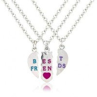 3 Part bestfriends necklace, perfect for your 3 best pals includes 3 free gift bags to keep your jewelry safe:Amazon:Jewelry