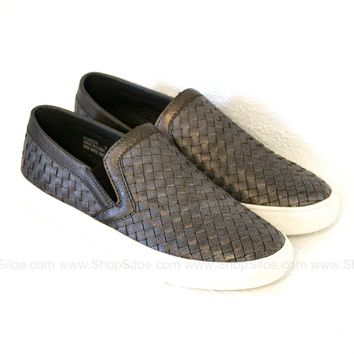 Brushed Bronze Slip On Shoes