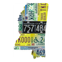 Mississippi License Plate wall decal
