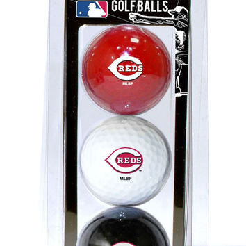 Cincinnati Reds 3 Pack of Golf Balls