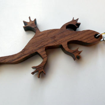 Walnut Lizard Keychain!