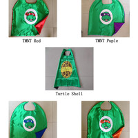"""25"""" double layer TMNT cape, turtle shell capes, four character, party favor cape, cosplay clothes, 5 style"""