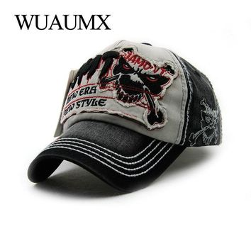 Trendy Winter Jacket Wuaumx Brand Summer Baseball Caps For Men Women Girls Baseball Hat Cotton Snapback Cap Men Fitted Wash Hat Patchwork Casquette AT_92_12