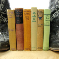 Zane Grey Book Collection including First Edition Code of the West, The Trail Driver, Forlorn River, The Spirit of the Border