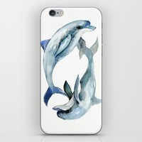 Two Dolphins iPhone & iPod Skin by SurenArt