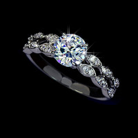 1.25 carat Swiss Cubic Zirconia Engagement Ring