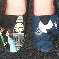 Off To Neverland Hand Painted Disney Shoes