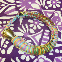 Rainbow Hemp Pipe Bracelet Anklet guys womens jewelry hippie unisex