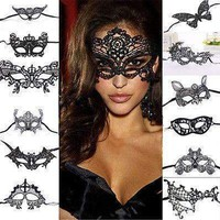 1Pcs Black Women Lace Eye Mask Party Masks For Masquerade Halloween Venetian Costumes