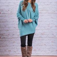 Home For The Holidays Tunic, Turquoise