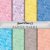 Digital Paper Pack - Painted Marble
