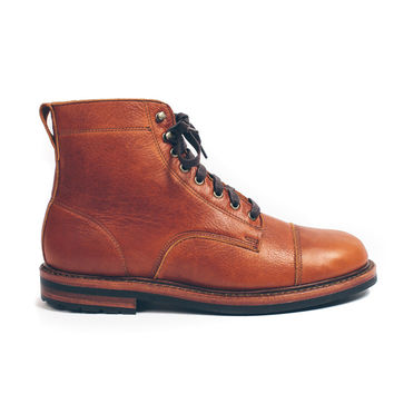The Moto Boot in Whiskey Steerhide