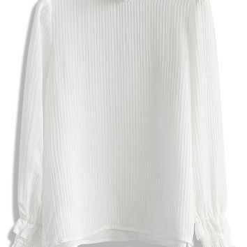 Creases of Love Blouse in White