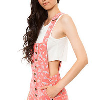 *MKL Collective The Rose Ditsy Overall in Coral : Karmaloop.com - Global Concrete Culture