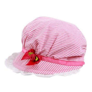 LMF78W New 0-12Months Boy Baby Toddler Cotton Bucket Hat Summer Sun Beach Bonnet Beanie Cap X16