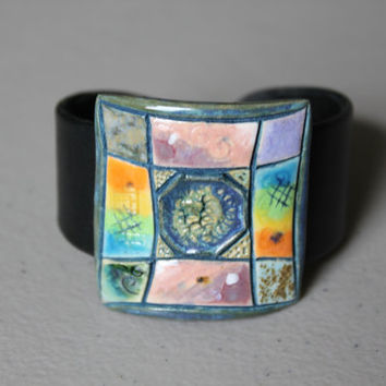 Unique handmade ceramic bracelet