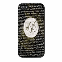 5Sos Quote Black Lyrics iPhone 5 Case