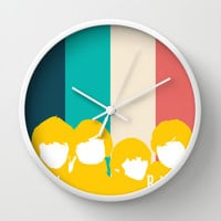 The Beatles Rock Band Wall Clock by Lab No. 4 | Society6