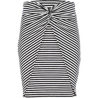 River Island Girls blue stripe knot front tube skirt