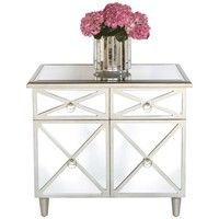 Claude Mirrored Bedside Table/Nightstand