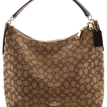 b2e1e0b9c8b65 Coach Outline Signature Celeste Hobo Shoulder Crossbody Bag Purse Handbag